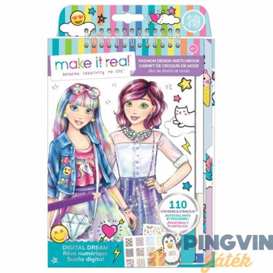 Make it Real: Divattervezői vázlatfüzet kiegészítőkkel - Modern ruhák