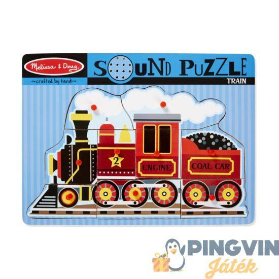 Melissa&Doug - Hangos Fa Puzzle, Vonat (729)
