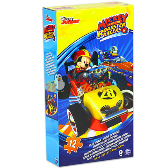 Mickey a roadster versenyző szivacs puzzle 12db-os - Spin Master
