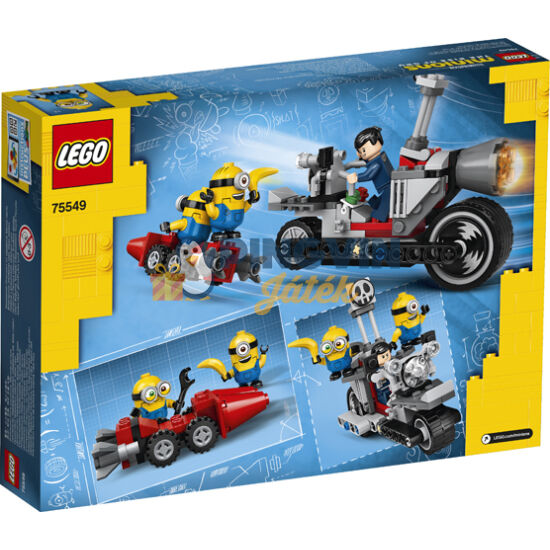 LEGO® Minions Megállíthatatlan motoros üldözés 75549