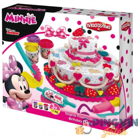 Minnie Egér szülinapi tortakészítő gyurmaszett - AS Toys