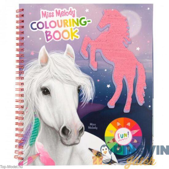 Depesche - Miss Melody: Flitteres lovas színező matricákkal 11163