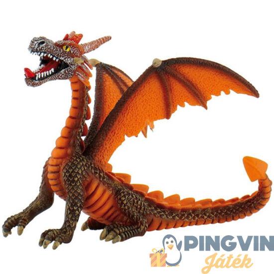 Bullyland - Narancssárga ülő sárkány játékfigura (75595)
