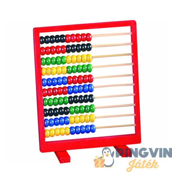 Bino Toys - Piros keretes fa számolótábla (84109)