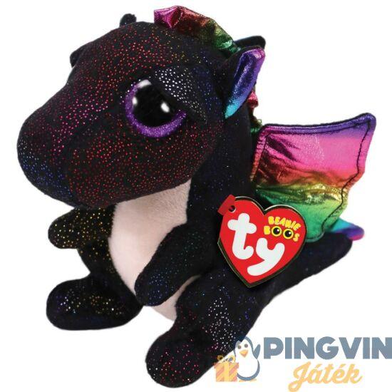 Beanie Boos - Anora fekete plüss sárkány, 15 cm-es