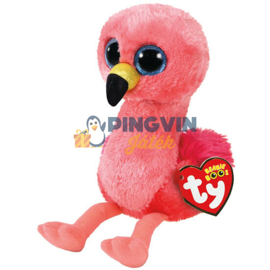 Plüss Beanie Boos figura Gilda rózsaszín flamingó 15cm TY36848