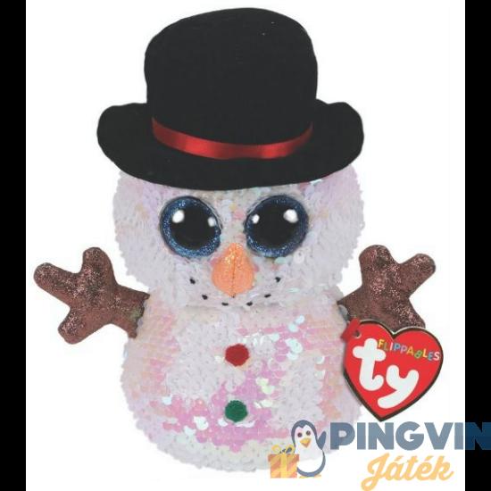 Plüss Flippables Boos - Melty - flittres hóember figura 15 cm-es