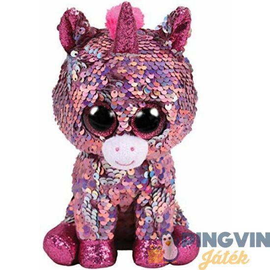 Beanie Boos - Sparkle  flitteres rózsaszín unikornis,15cm-es