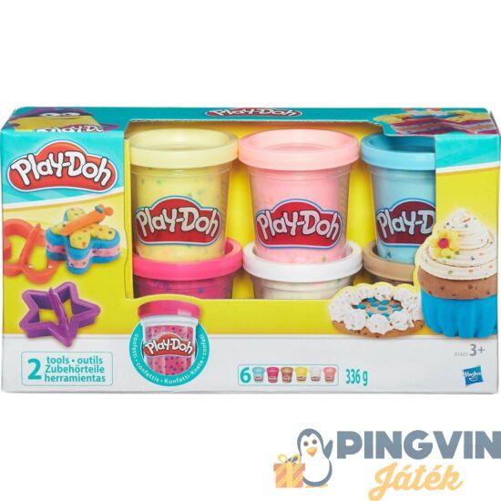 Play-Doh: 6 Db-Os Konfenttis Gyurma Készlet - Hasbro