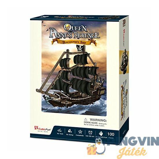 3D puzzle: Queen Anne's Revenge hajó - Cubicfun