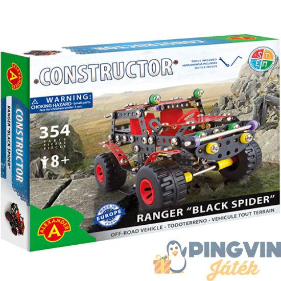"""Ranger """"Black Spier"""" autó fém építőjáték 354db-os - Alexander Toys"""