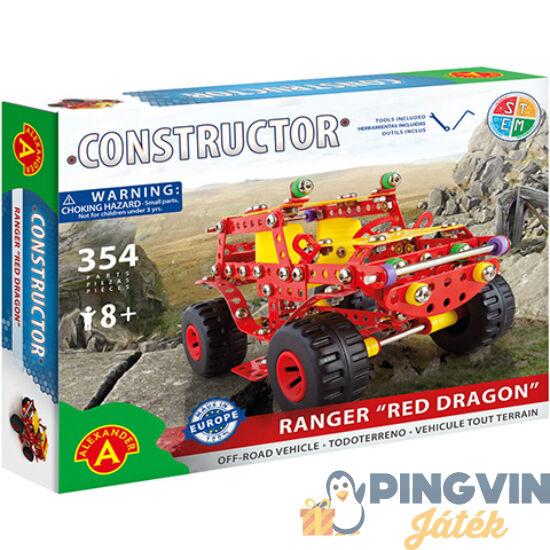 """Ranger """"Red Dragon"""" autó fém építőjáték 354db-os - Alexander Toys"""