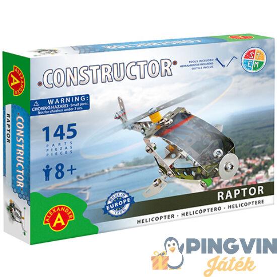 Raptor helikopter fém építőjáték 145db-os - Alexander Toys