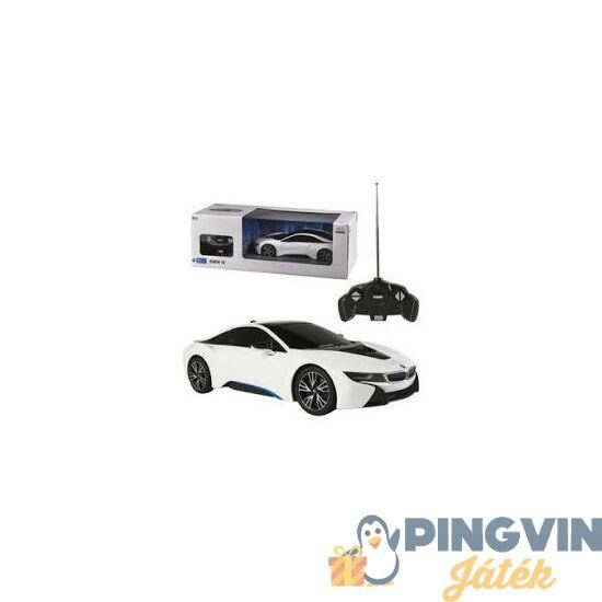 Rastar - Távirányítós autó 1:14 BMW i8, nyitható ajtó, USB