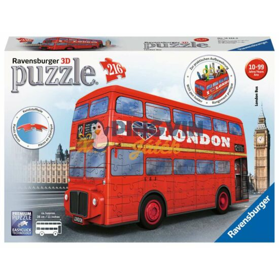 Ravensburger: 3D puzzle 216 db-os- London busz