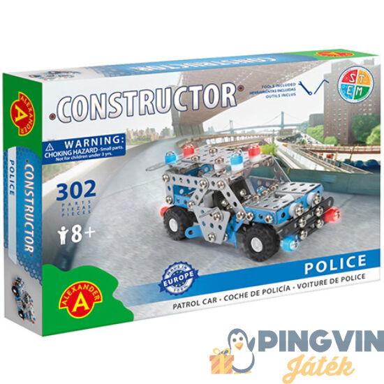 Rendőrautó fém építőjáték 302db-os - Alexander Toys