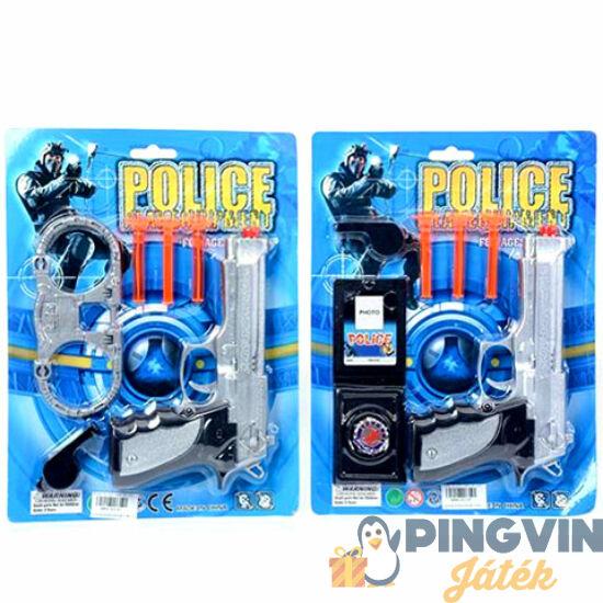 Rendőrségi szett pisztollyal 2 változatban - MK Toys