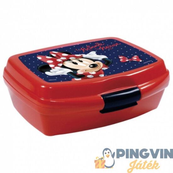 Derform - Minnie egér piros uzsonnás doboz 16*11*6 cm (SMM19)