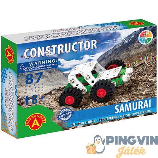 Samurai off-road járgány fém építőjáték 87db-os - Alexander Toys