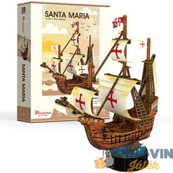3D puzzle: Santa Maria 113 db-os - Cubicfun