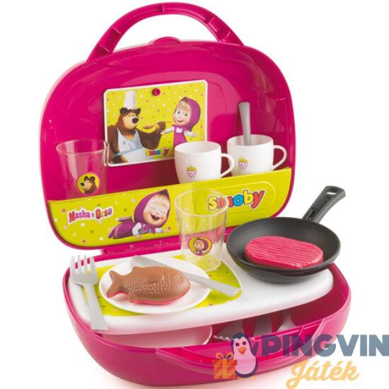 Simba Toys - Smoby: Mása és a Medve mini konyha táskában (7600310601)