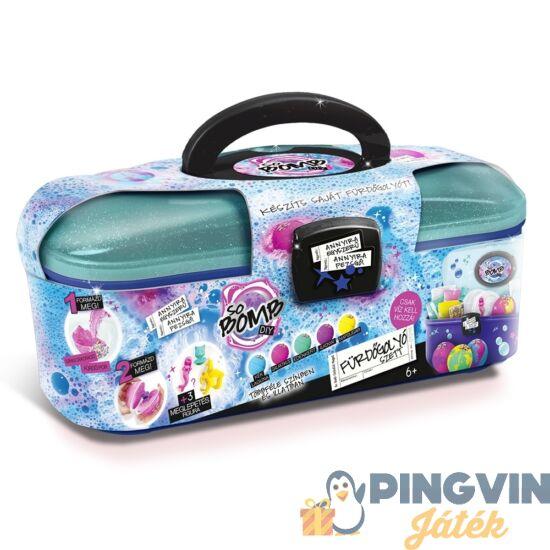 So Bomb: Fürdőgolyó készítő szett bőröndben kiegészítőkkel - Flair Toys