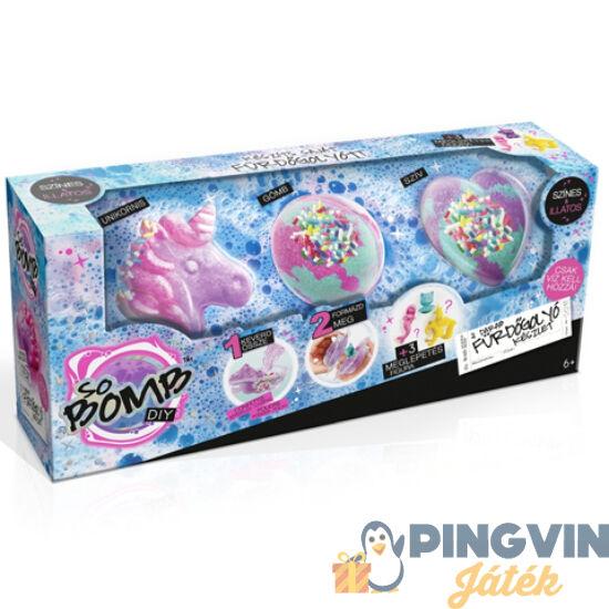 So Bomb fürdőgolyó 3db-os többféle formában és színben - Flair Toys