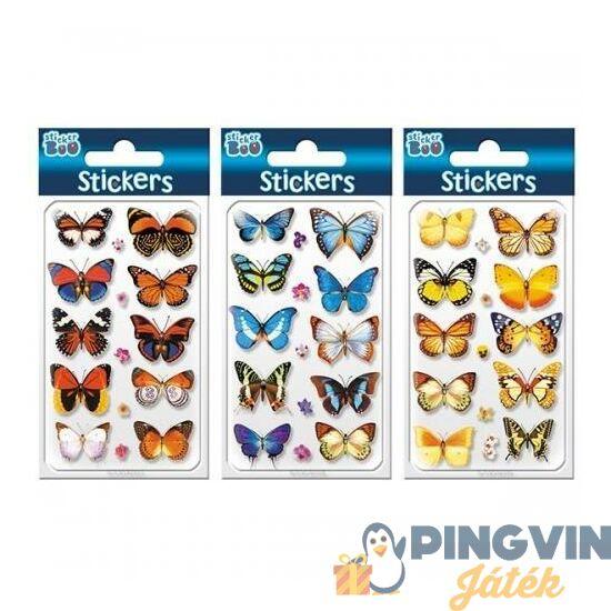 Starpak: Pillangók térhatású matrica 7,6x12,5cm