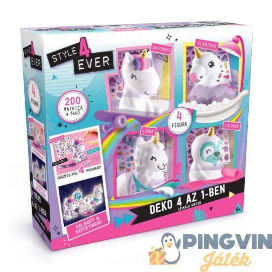 Style4Ever: Díszítsd fel 4 az 1-ben kreatív unikornis szett - Flair Toys
