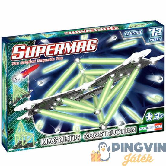Supermag - Classic Glow 72 db-os mágneses építőjáték (0409)