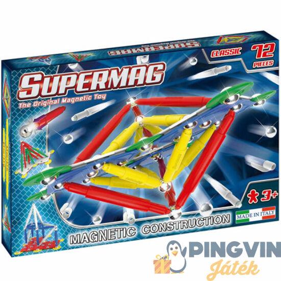 Supermag: Classic Primary 72 db-os mágneses építőjáték panelekkel