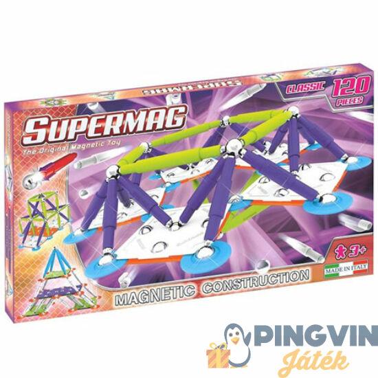 Supermag: Classic Trendy 120 db-os mágneses építőjáték