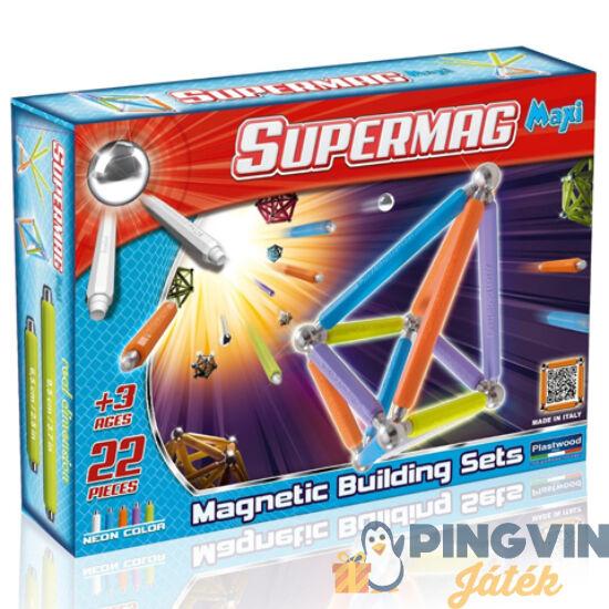Supermag: Maxi neon 22 db-os mágneses játék