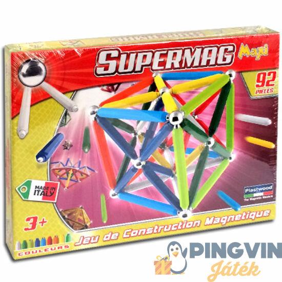 Supermag Maxi 96db-os mágneses építőjáték szett