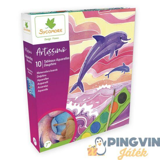 Sycomore Akvarell kép készítés - Delfinek
