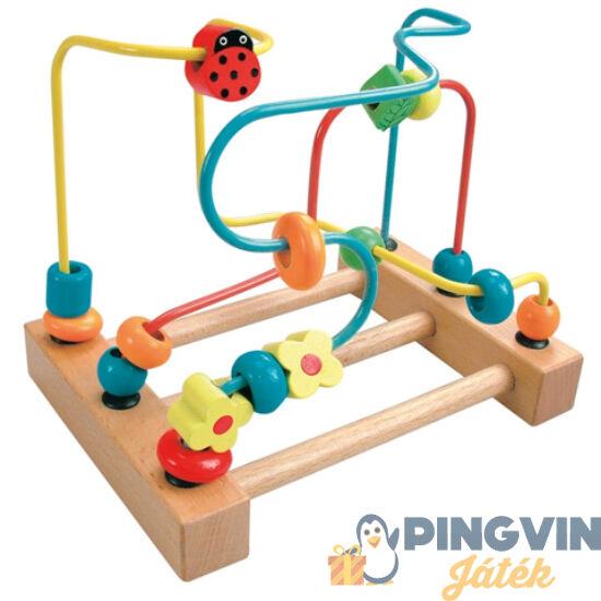 Színes golyóvezető fajáték - Bino Toys