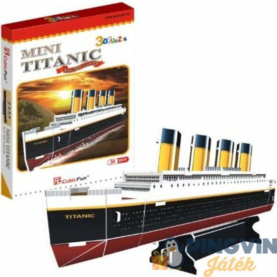 3D puzzle: Titanic 30 db-os - Cubicfun
