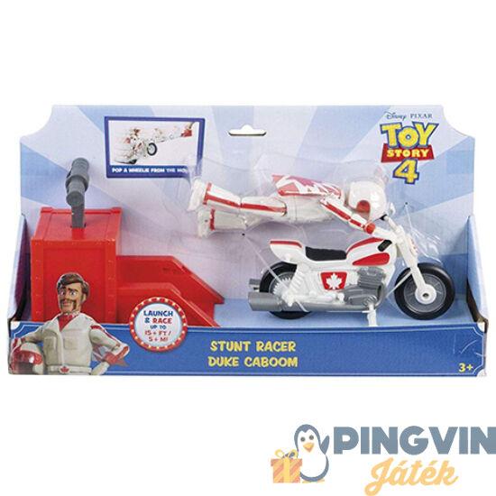 Mattel - Toy Story 4: Duke Caboom motoros kaszkadőr figura játékszett (GFB55)