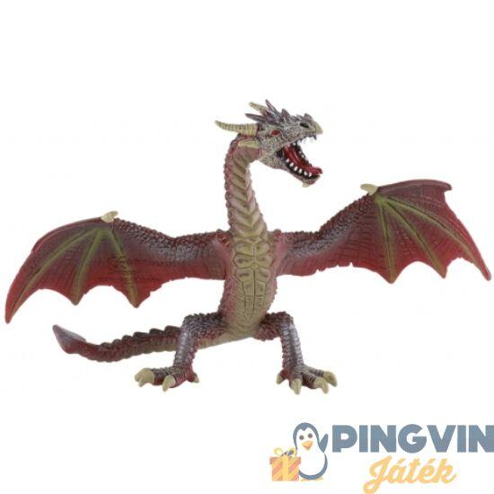 Bullyland: Vörös-barna sárkány játékfigura