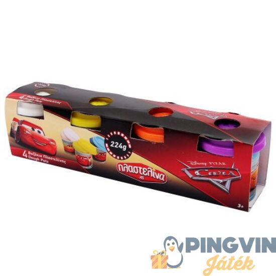 Verdák 4db tégelyes gyurmaszett 224g - AS Toys