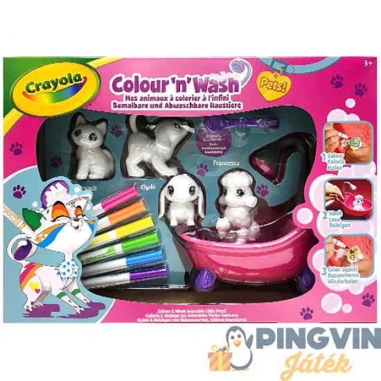 Washimals Kimosható állatkák játékszett káddal - Crayola