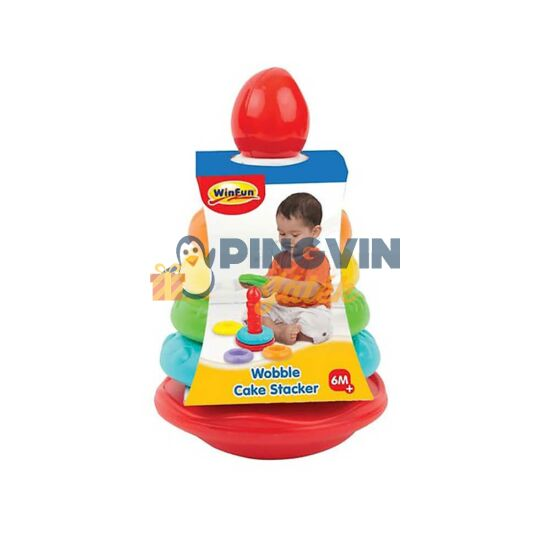 WinFun - Torta gyűrű piramis bébijáték