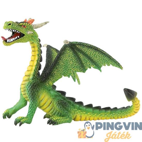 Bullyland: Zöld ülő sárkány játékfigura