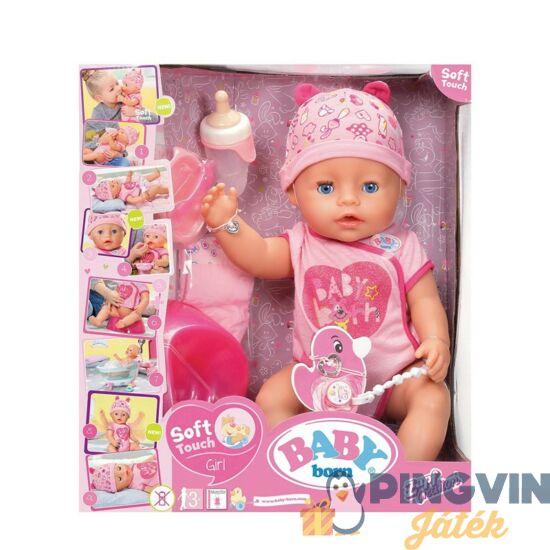 Zapf BABY Born interaktív lány baba