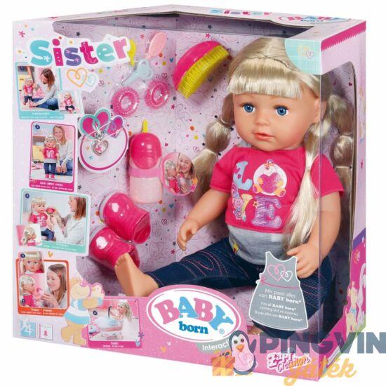 Zapf BABY Born interaktív lánytestvér 43 cm-es baba