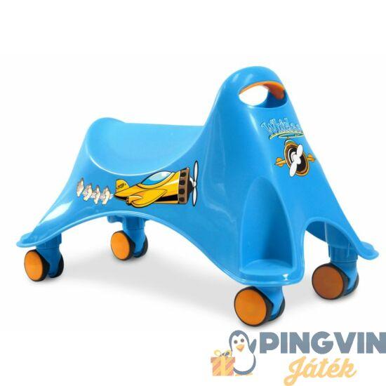 Lábbal hajtós bolygókerekes jármű, kék színben 30 kg-ig