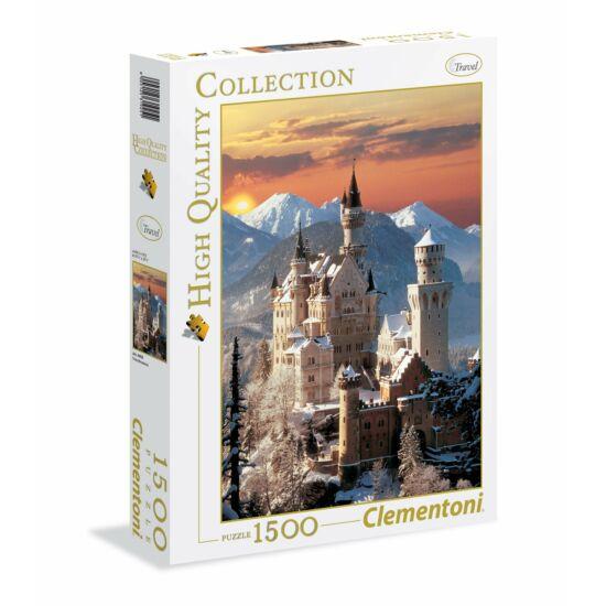 Clementoni - Neuschwansteini kastély Németország,1500 db-os puzzle (31925)