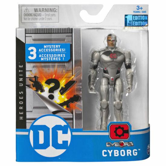 DC alap figura+3 kiegészítővel 11cm-es-Cyborg - Spin Master