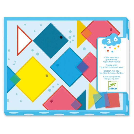 Djeco - Mágikus négyzetek - Magic squeres - Kreatív szett (DJ08975)