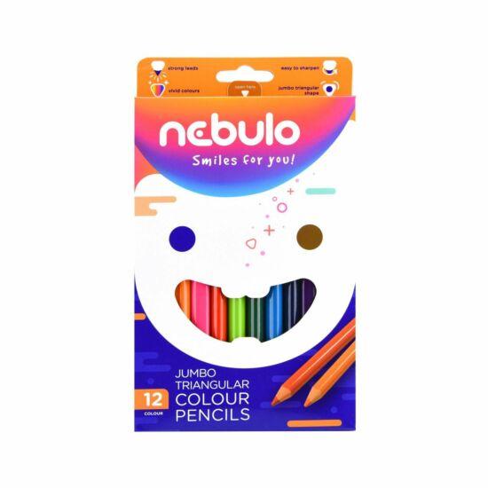 Nebulo - Jumbo színes ceruza készlet ,háromszög alakú,12db-os (JSZC-TR-12)
